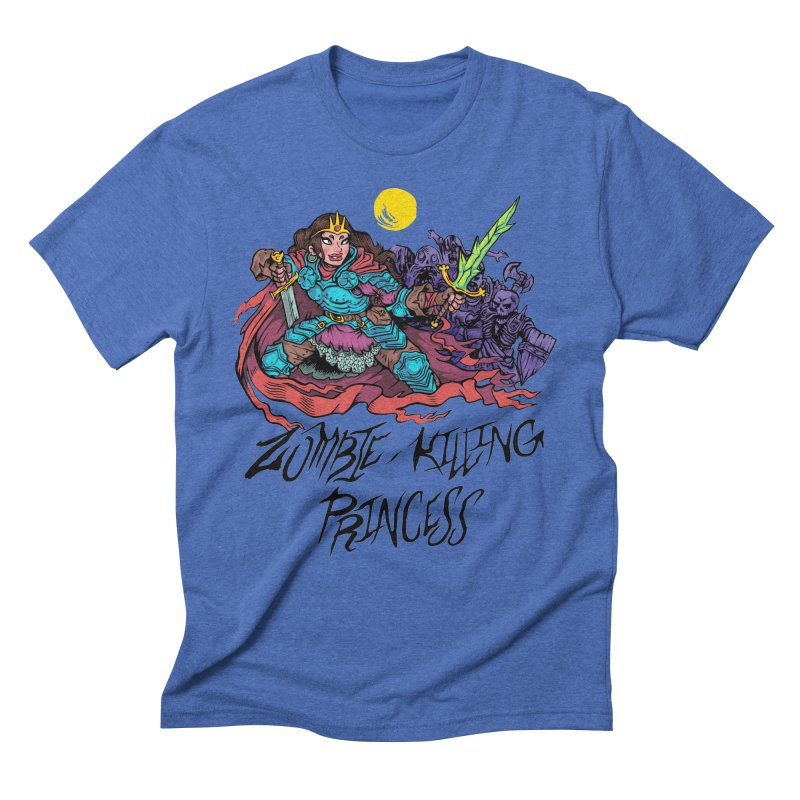Zombie-Killing Princess (black text) Men's Triblend T-Shirt by Things You Might Find In A Dungeon