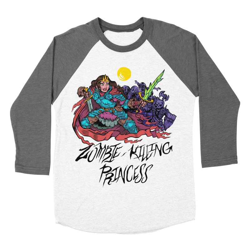 Zombie-Killing Princess (black text) Women's Baseball Triblend Longsleeve T-Shirt by Things You Might Find In A Dungeon