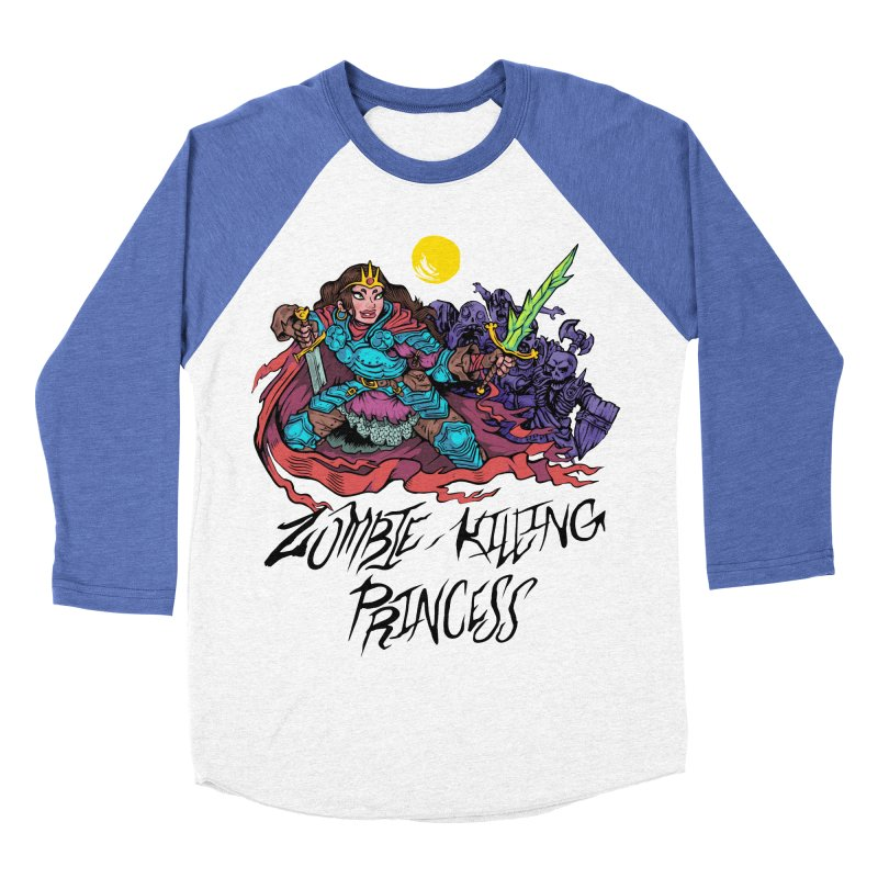Zombie-Killing Princess (black text) Men's Baseball Triblend Longsleeve T-Shirt by Things You Might Find In A Dungeon