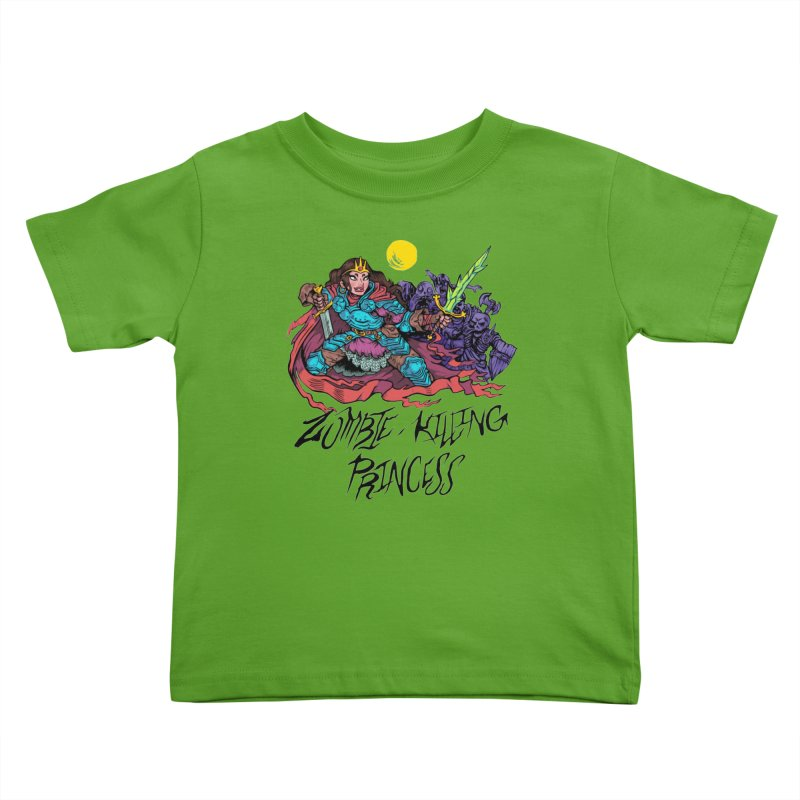 Zombie-Killing Princess (black text) Kids Toddler T-Shirt by Things You Might Find In A Dungeon