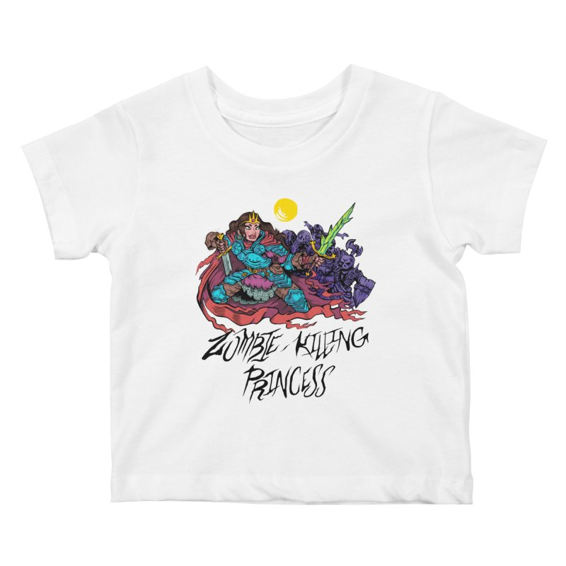Zombie-Killing Princess (black text) Kids Baby T-Shirt by Things You Might Find In A Dungeon