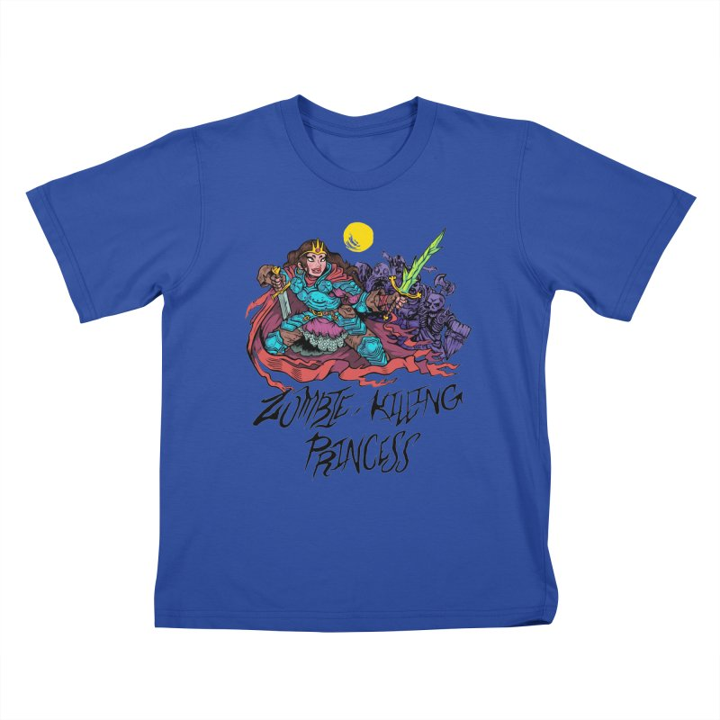 Zombie-Killing Princess (black text) Kids T-Shirt by Things You Might Find In A Dungeon