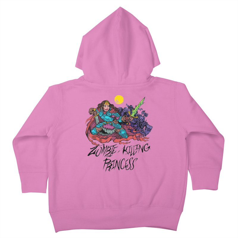 Zombie-Killing Princess (black text) Kids Toddler Zip-Up Hoody by Things You Might Find In A Dungeon