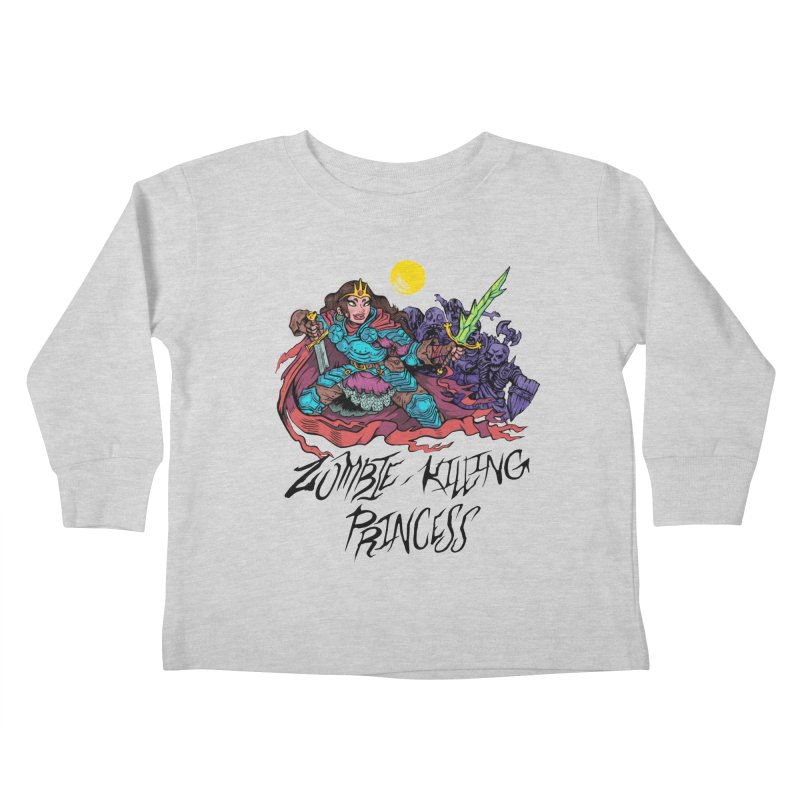 Zombie-Killing Princess (black text) Kids Toddler Longsleeve T-Shirt by Things You Might Find In A Dungeon