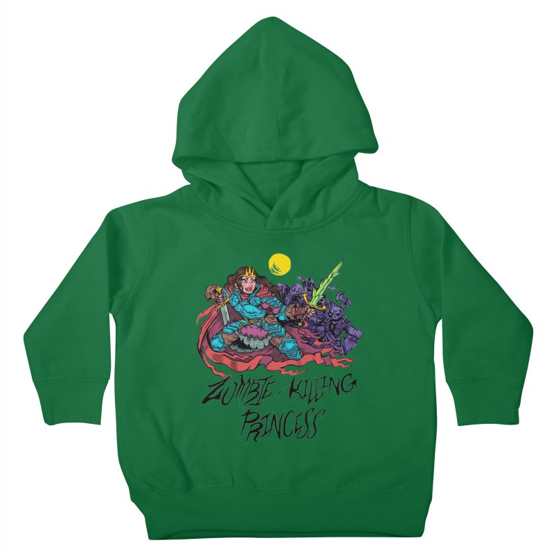 Zombie-Killing Princess (black text) Kids Toddler Pullover Hoody by Things You Might Find In A Dungeon