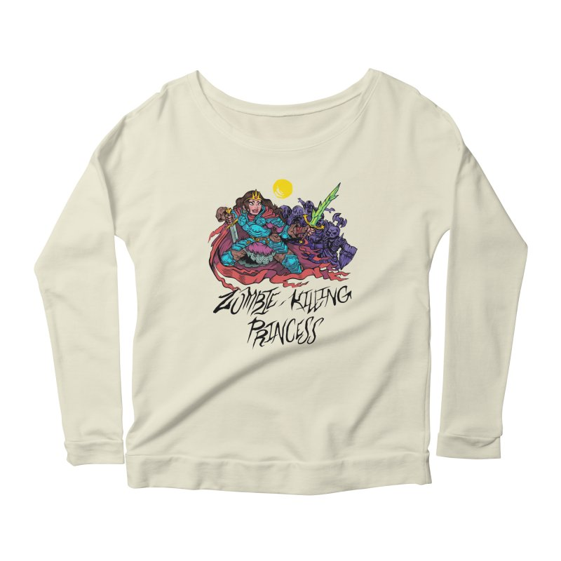 Zombie-Killing Princess (black text) Women's Scoop Neck Longsleeve T-Shirt by Things You Might Find In A Dungeon