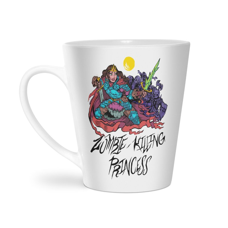 Zombie-Killing Princess (black text) Accessories Latte Mug by Things You Might Find In A Dungeon