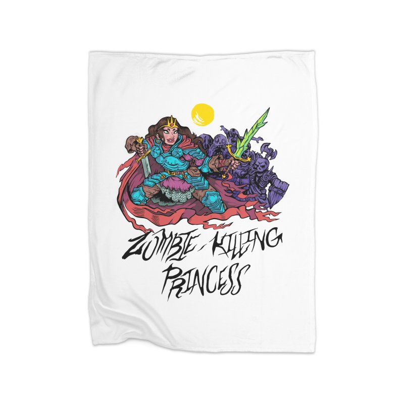 Zombie-Killing Princess (black text) Home Fleece Blanket Blanket by Things You Might Find In A Dungeon