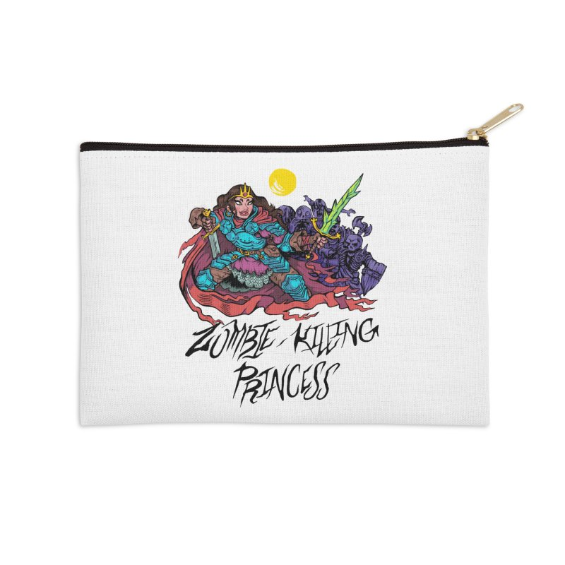 Zombie-Killing Princess (black text) Accessories Zip Pouch by Things You Might Find In A Dungeon
