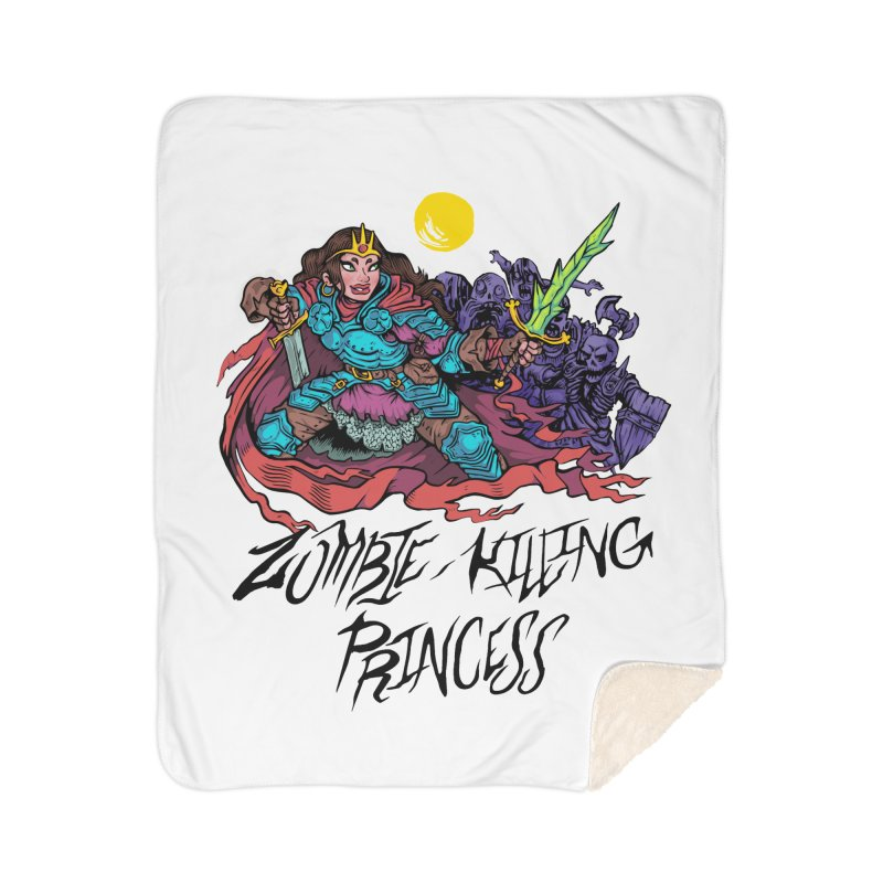 Zombie-Killing Princess (black text) Home Sherpa Blanket Blanket by Things You Might Find In A Dungeon