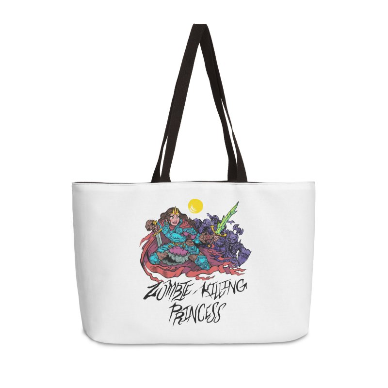 Zombie-Killing Princess (black text) Accessories Weekender Bag Bag by Things You Might Find In A Dungeon