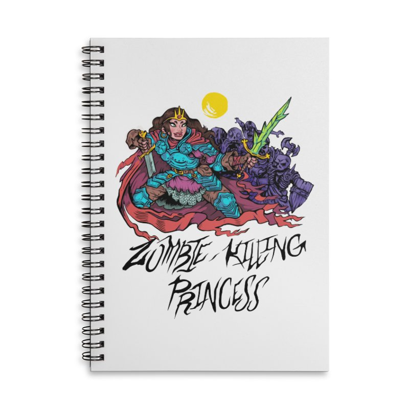Zombie-Killing Princess (black text) Accessories Lined Spiral Notebook by Things You Might Find In A Dungeon