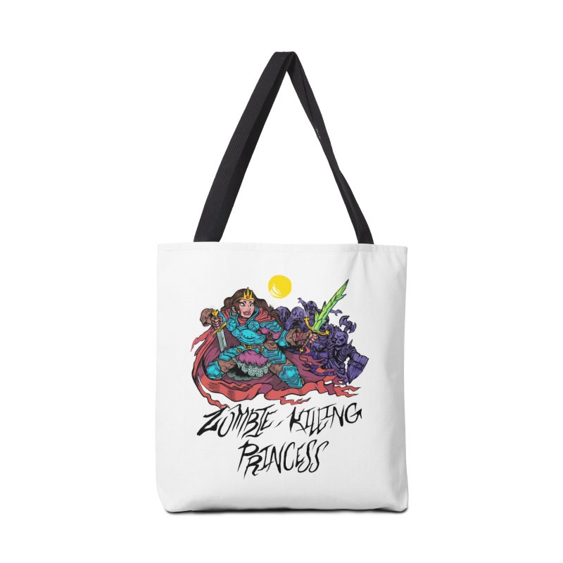 Zombie-Killing Princess (black text) Accessories Tote Bag Bag by Things You Might Find In A Dungeon