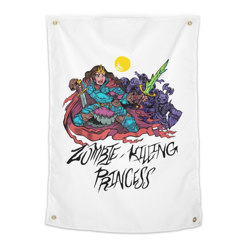 Zombie-Killing Princess (black text) Home Tapestry by Things You Might Find In A Dungeon
