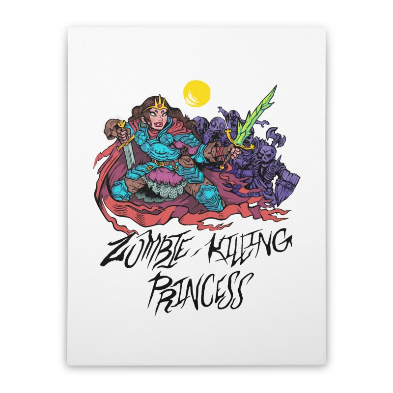 Zombie-Killing Princess (black text) Home Stretched Canvas by Things You Might Find In A Dungeon