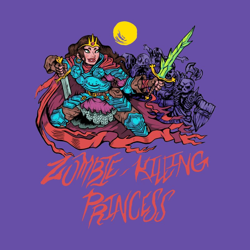 Zombie-Killing Princess (red text) Men's T-Shirt by Things You Might Find In A Dungeon