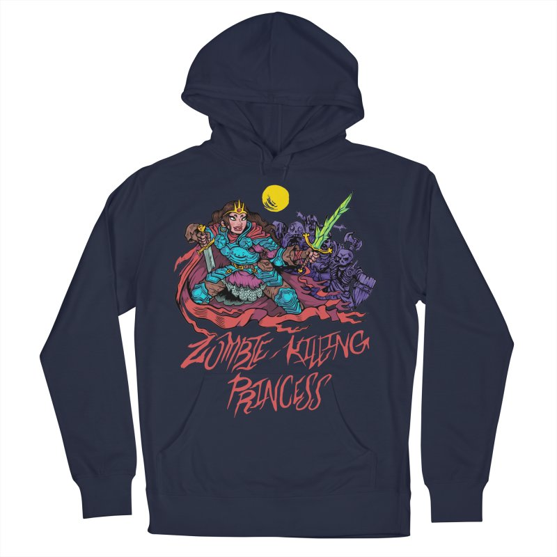 Zombie-Killing Princess (red text) Women's French Terry Pullover Hoody by Things You Might Find In A Dungeon