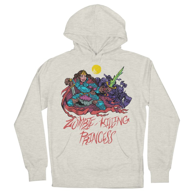 Zombie-Killing Princess (red text) Men's French Terry Pullover Hoody by Things You Might Find In A Dungeon