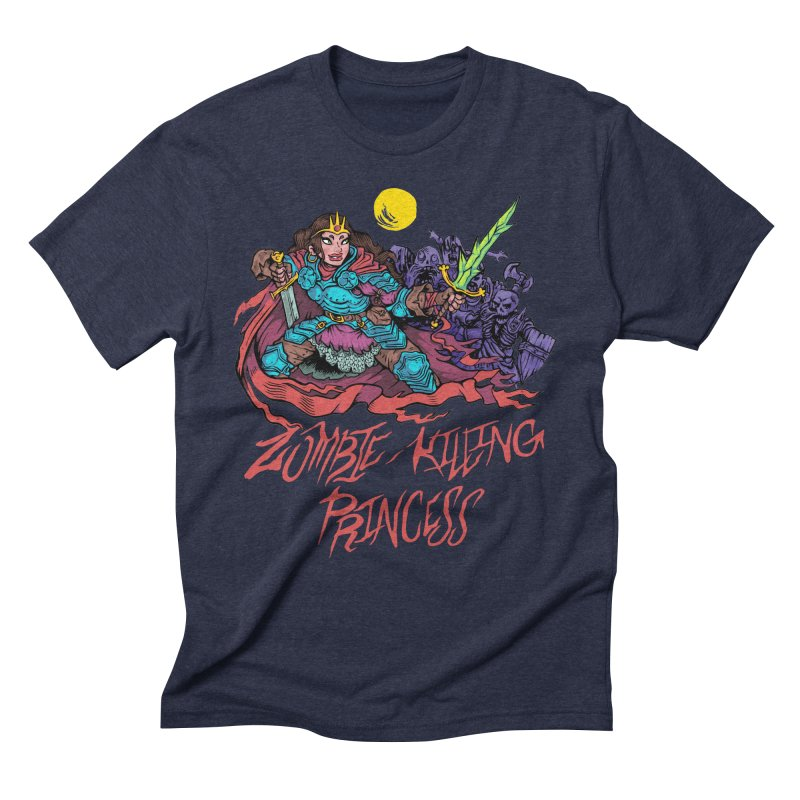 Zombie-Killing Princess (red text) Men's Triblend T-Shirt by Things You Might Find In A Dungeon