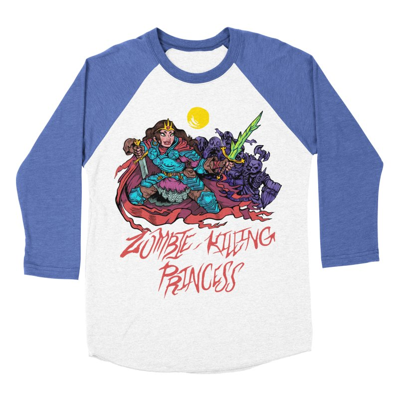Zombie-Killing Princess (red text) Men's Baseball Triblend Longsleeve T-Shirt by Things You Might Find In A Dungeon