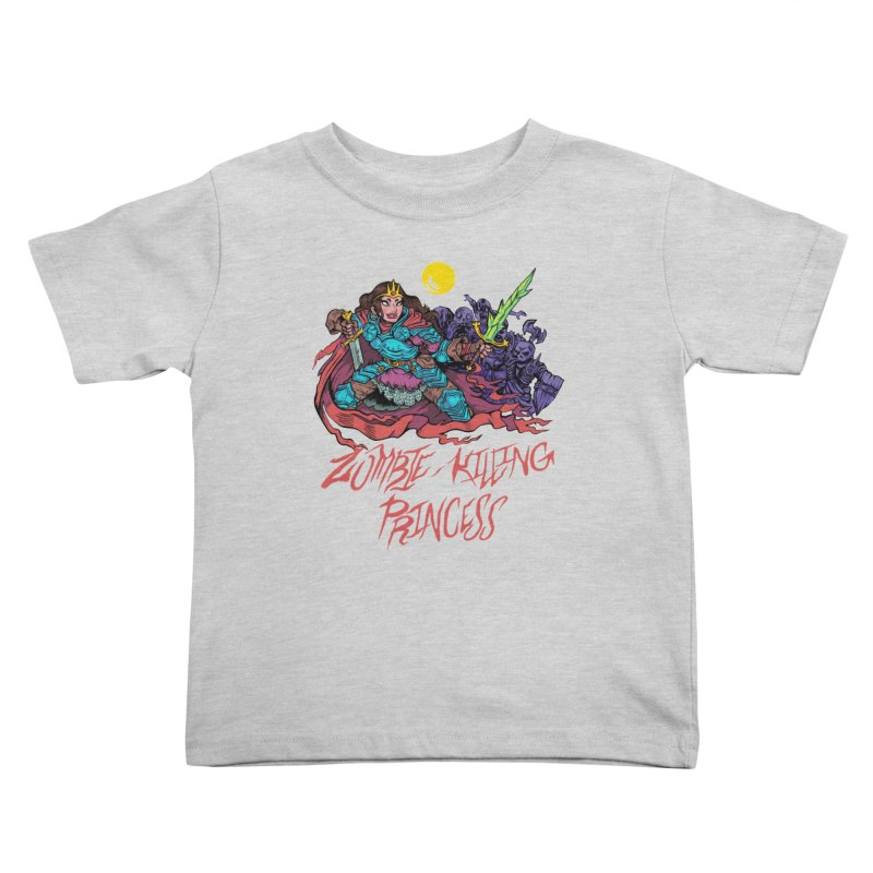 Zombie-Killing Princess (red text) Kids Toddler T-Shirt by Things You Might Find In A Dungeon