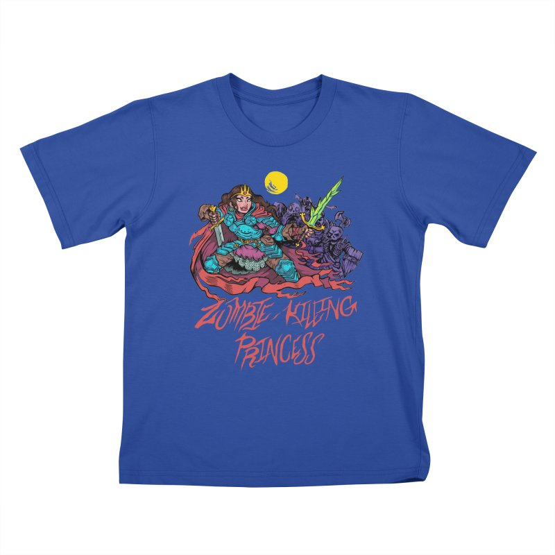 Zombie-Killing Princess (red text) Kids T-Shirt by Things You Might Find In A Dungeon