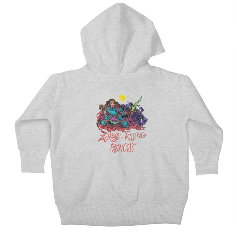 Zombie-Killing Princess (red text) Kids Baby Zip-Up Hoody by Things You Might Find In A Dungeon