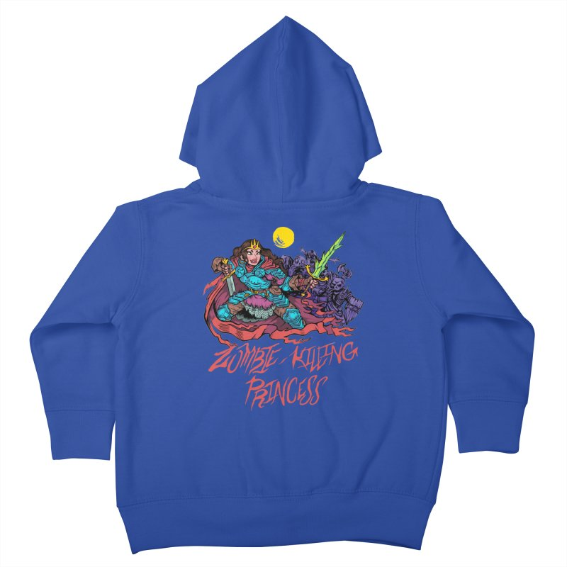 Zombie-Killing Princess (red text) Kids Toddler Zip-Up Hoody by Things You Might Find In A Dungeon