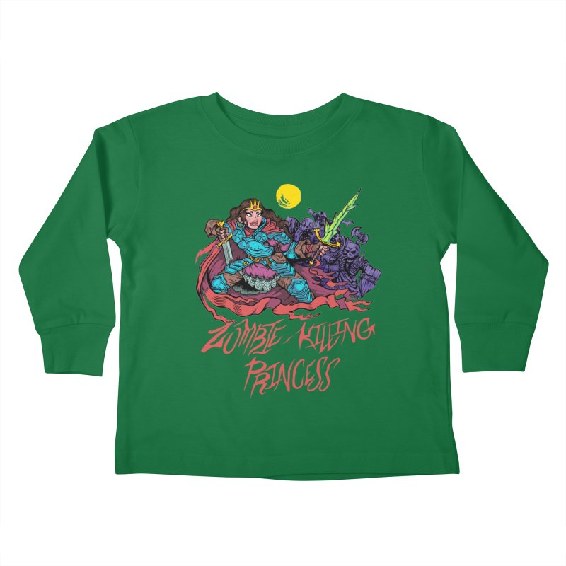 Zombie-Killing Princess (red text) Kids Toddler Longsleeve T-Shirt by Things You Might Find In A Dungeon