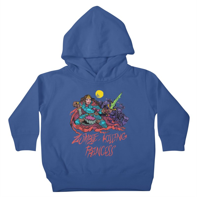 Zombie-Killing Princess (red text) Kids Toddler Pullover Hoody by Things You Might Find In A Dungeon