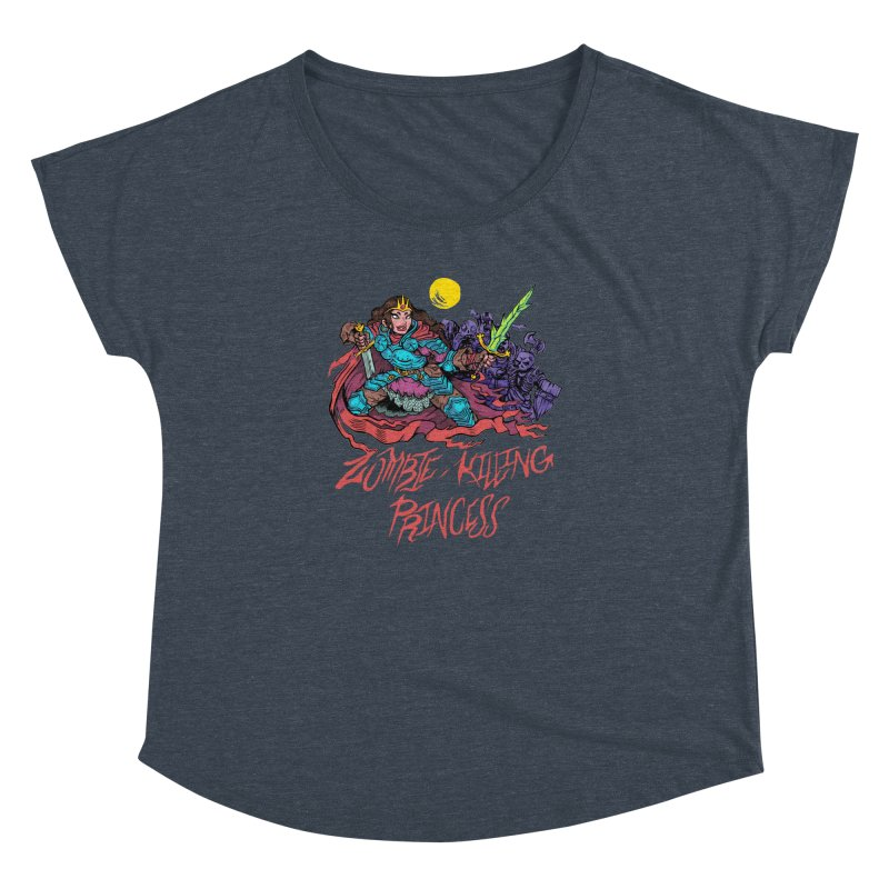 Zombie-Killing Princess (red text) Women's Dolman Scoop Neck by Things You Might Find In A Dungeon