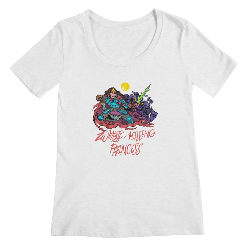 Zombie-Killing Princess (red text) Women's Regular Scoop Neck by Things You Might Find In A Dungeon