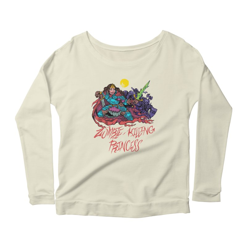 Zombie-Killing Princess (red text) Women's Scoop Neck Longsleeve T-Shirt by Things You Might Find In A Dungeon