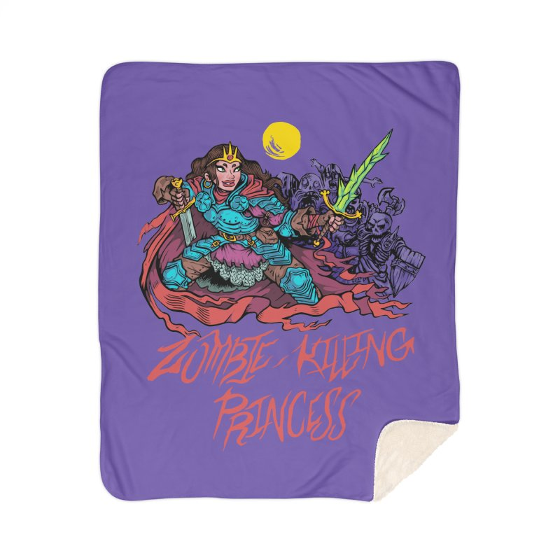 Zombie-Killing Princess (red text) Home Sherpa Blanket Blanket by Things You Might Find In A Dungeon