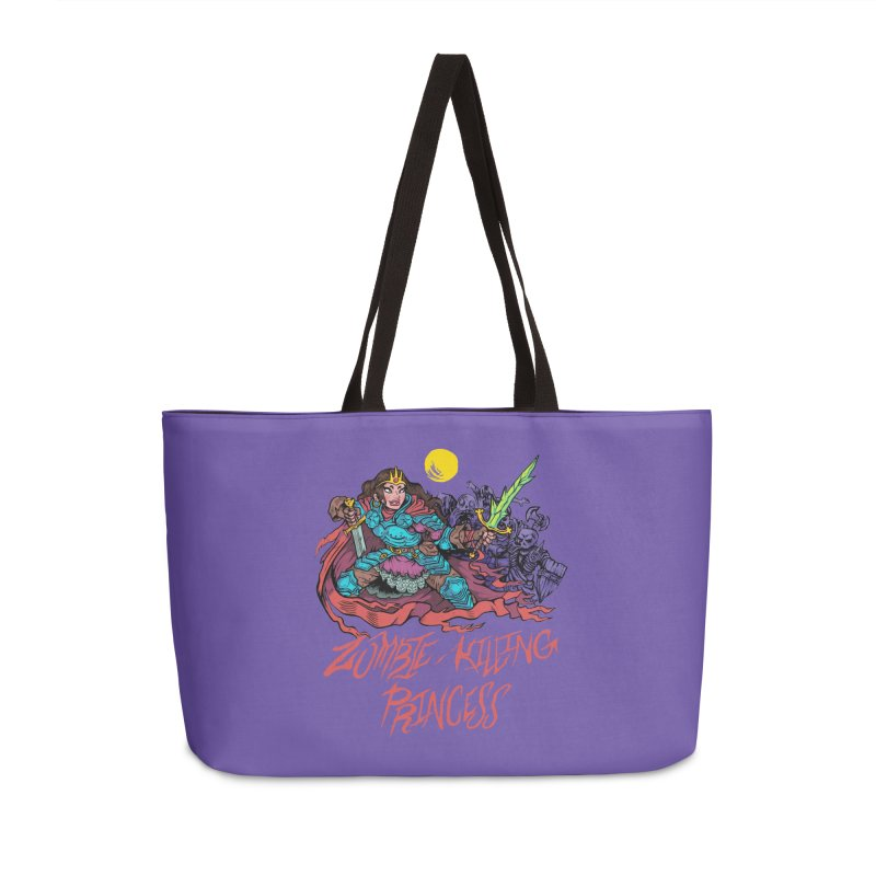 Zombie-Killing Princess (red text) Accessories Weekender Bag Bag by Things You Might Find In A Dungeon