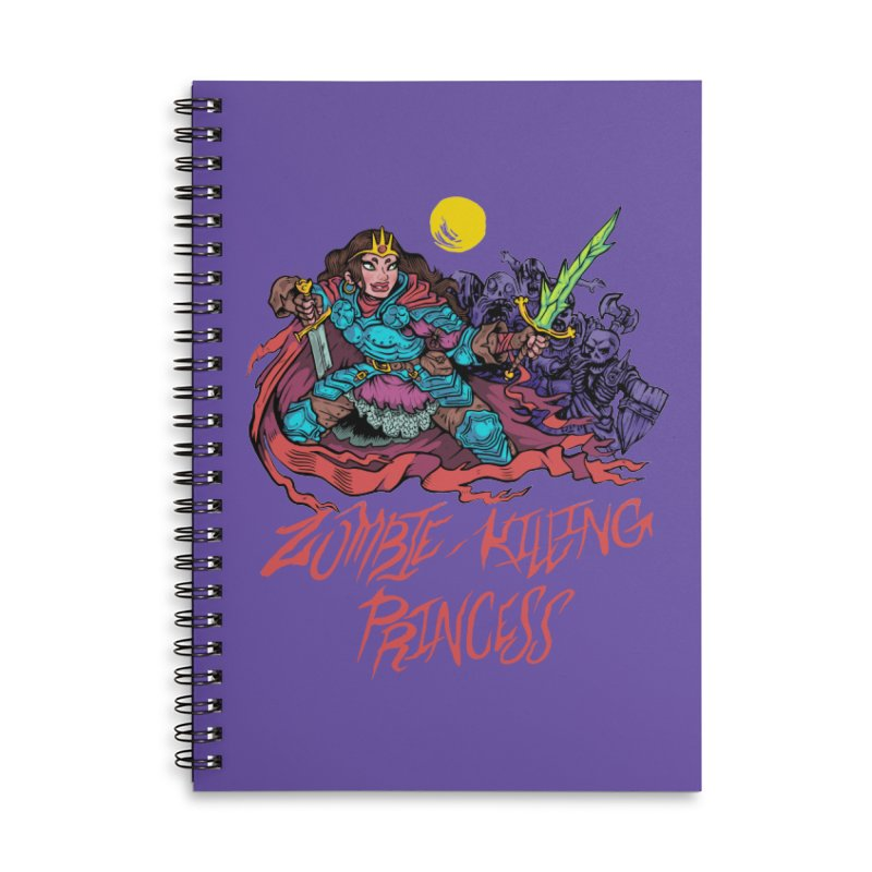 Zombie-Killing Princess (red text) Accessories Lined Spiral Notebook by Things You Might Find In A Dungeon