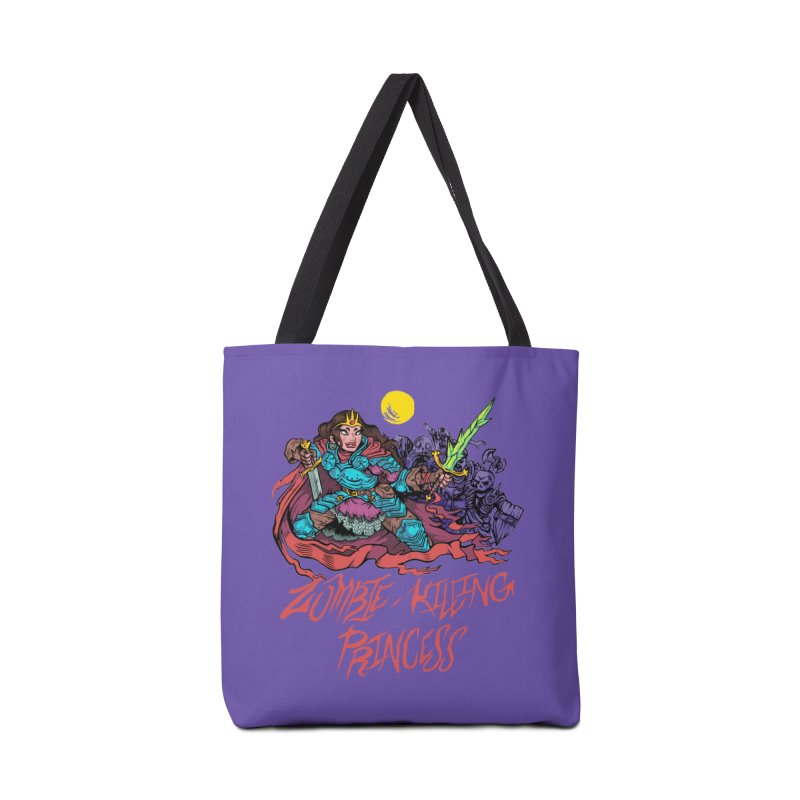 Zombie-Killing Princess (red text) Accessories Tote Bag Bag by Things You Might Find In A Dungeon