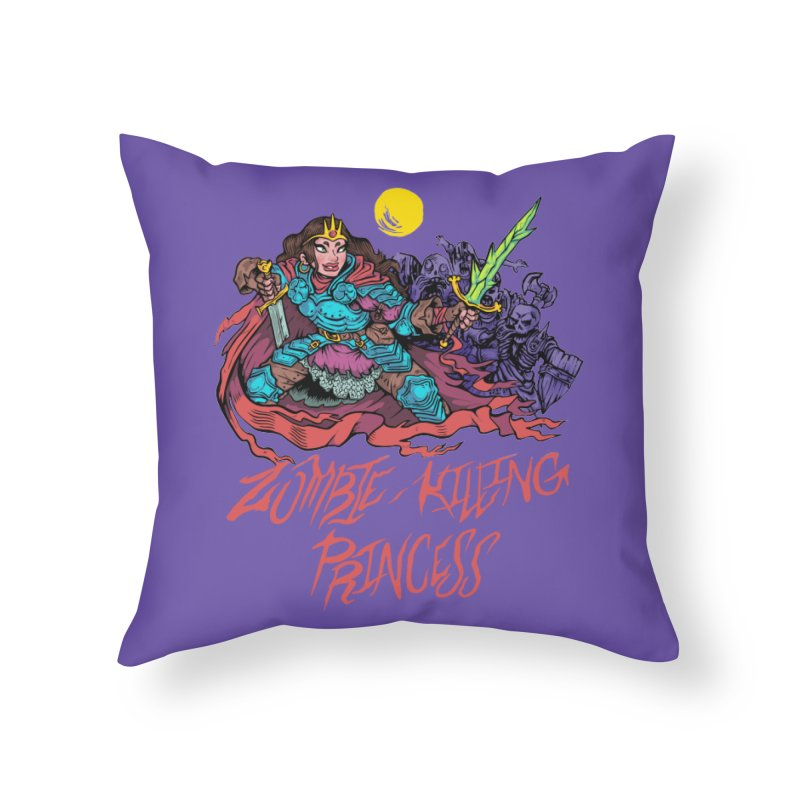 Zombie-Killing Princess (red text) Home Throw Pillow by Things You Might Find In A Dungeon