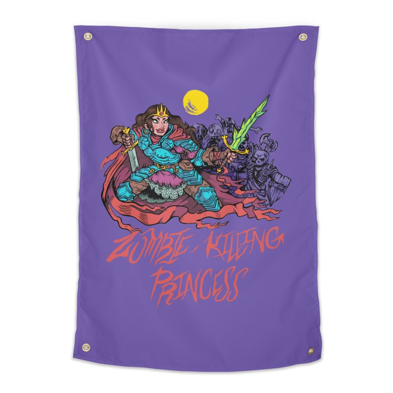 Zombie-Killing Princess (red text) Home Tapestry by Things You Might Find In A Dungeon