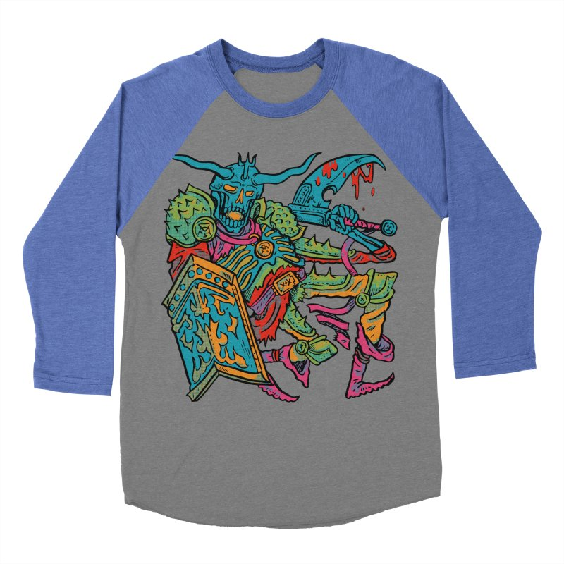 Vorst the Undead Paladin  Men's Baseball Triblend Longsleeve T-Shirt by Things You Might Find In A Dungeon