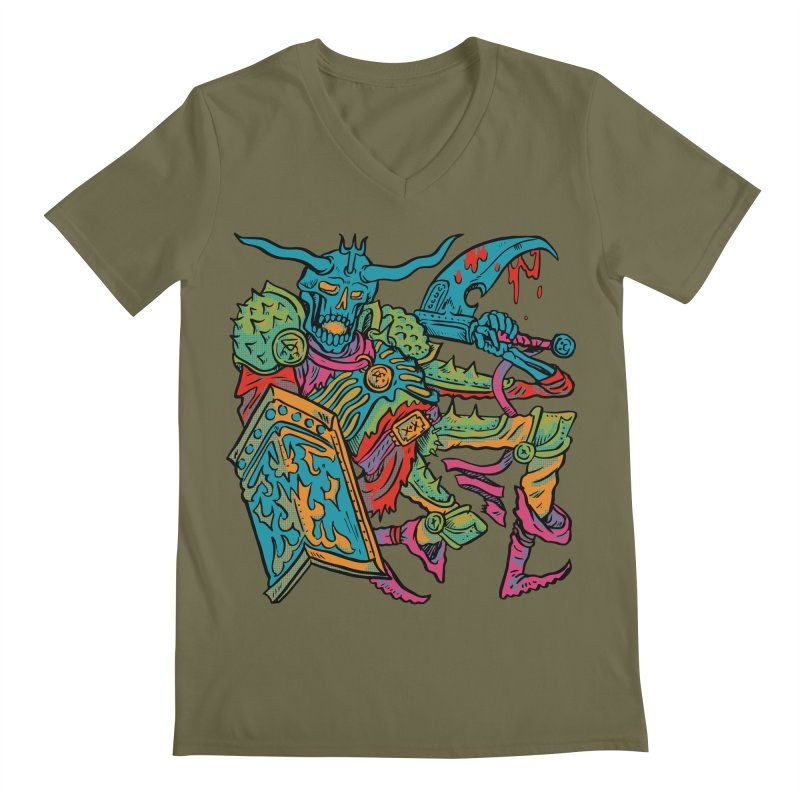 Vorst the Undead Paladin  Men's Regular V-Neck by Things You Might Find In A Dungeon