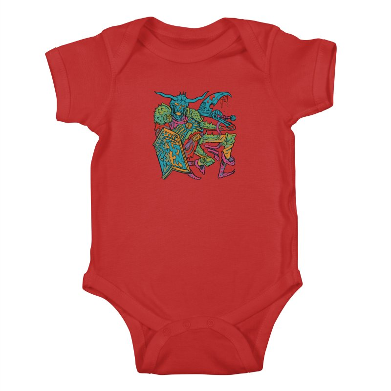 Vorst the Undead Paladin  Kids Baby Bodysuit by Things You Might Find In A Dungeon