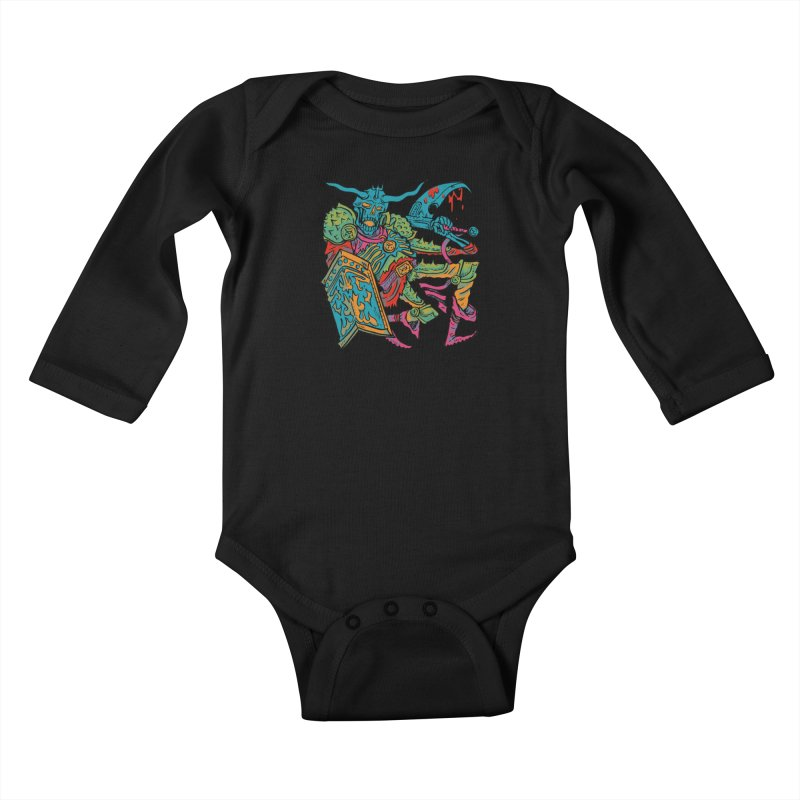 Vorst the Undead Paladin  Kids Baby Longsleeve Bodysuit by Things You Might Find In A Dungeon