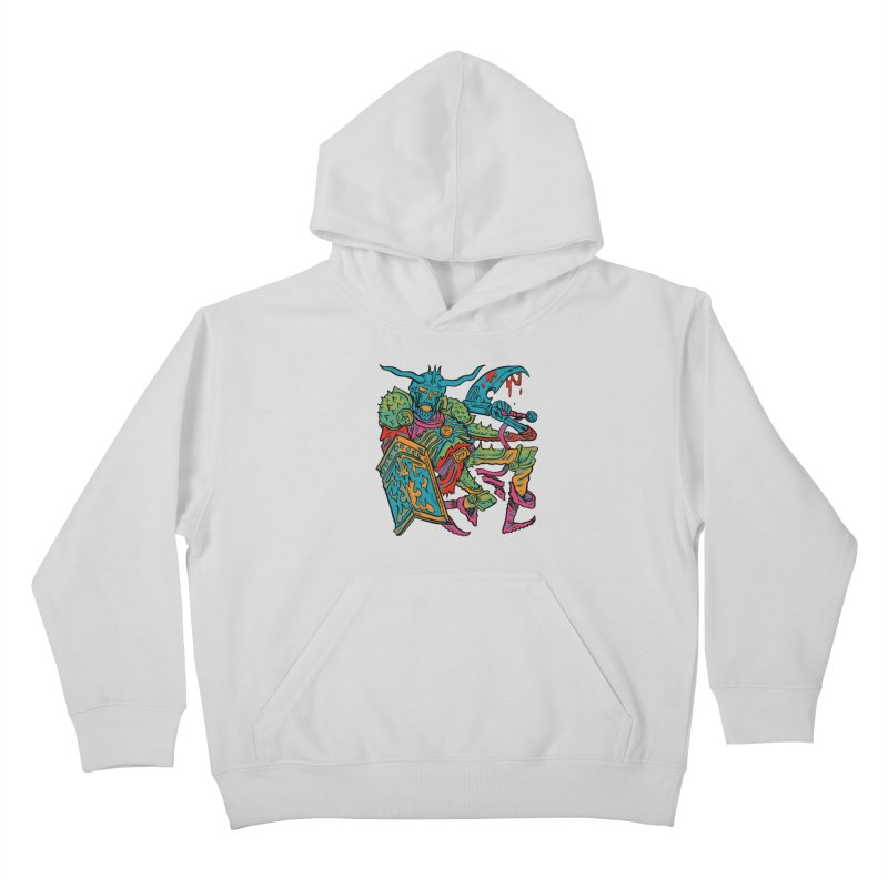 Vorst the Undead Paladin  Kids Pullover Hoody by Things You Might Find In A Dungeon