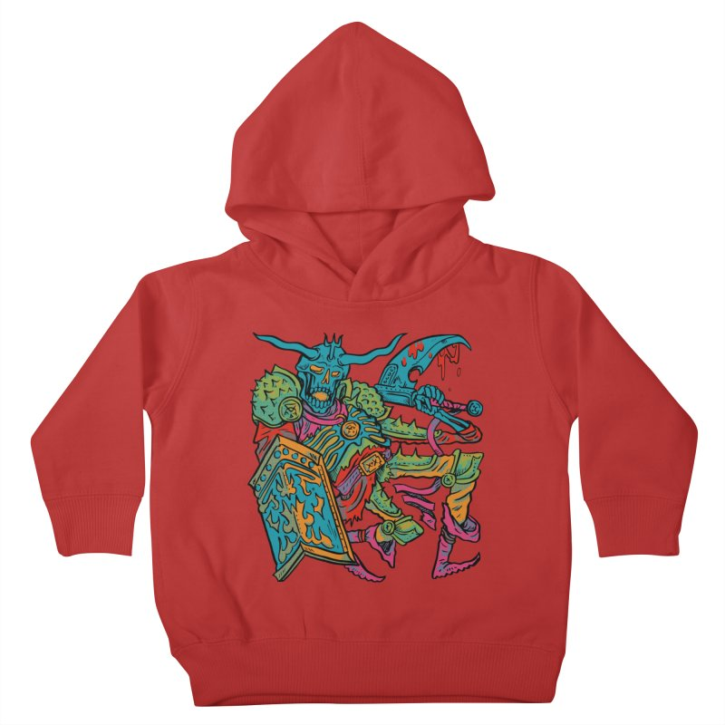 Vorst the Undead Paladin  Kids Toddler Pullover Hoody by Things You Might Find In A Dungeon