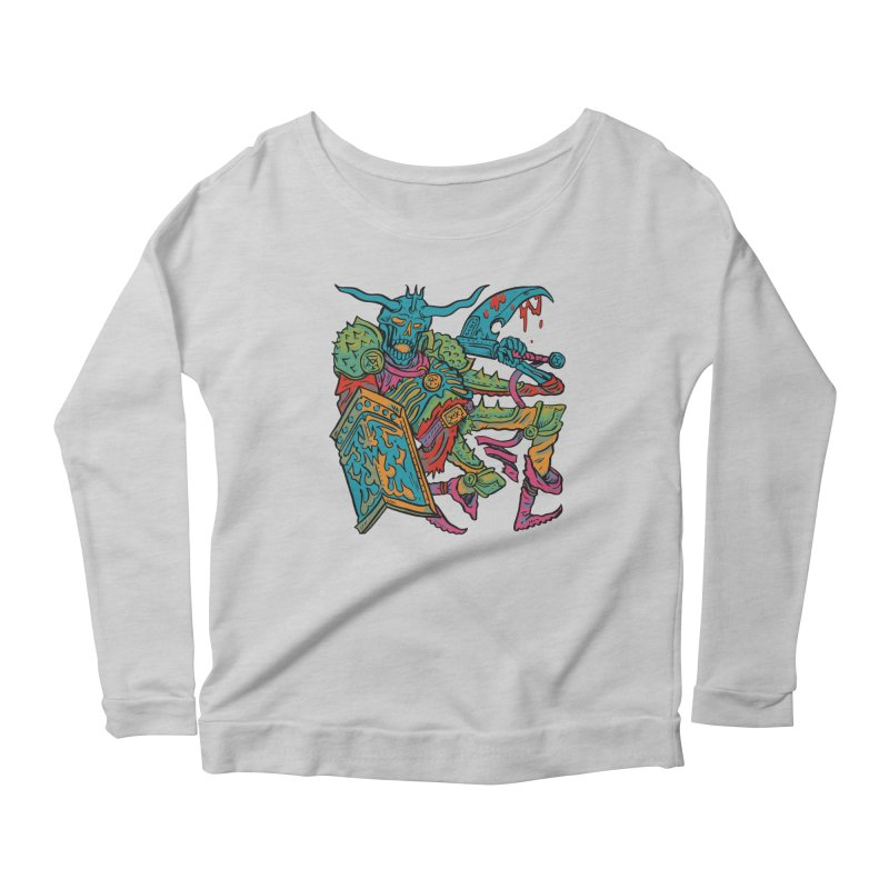 Vorst the Undead Paladin  Women's Scoop Neck Longsleeve T-Shirt by Things You Might Find In A Dungeon