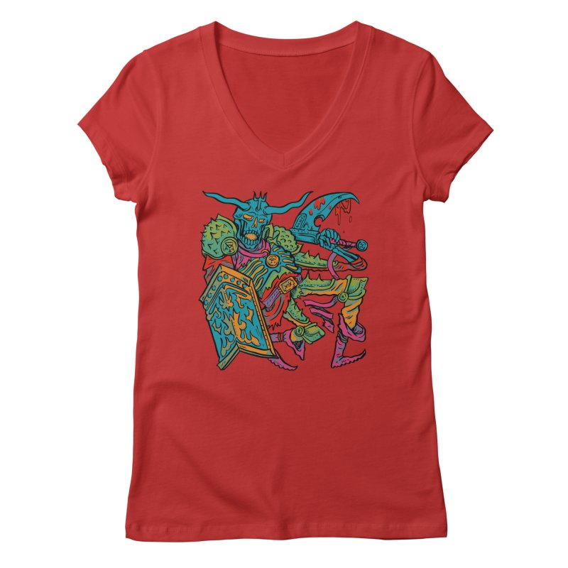 Vorst the Undead Paladin  Women's Regular V-Neck by Things You Might Find In A Dungeon