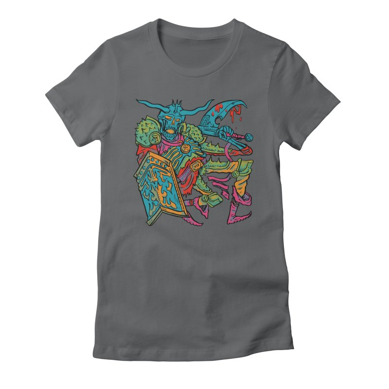 Vorst the Undead Paladin  Women's Fitted T-Shirt by Things You Might Find In A Dungeon