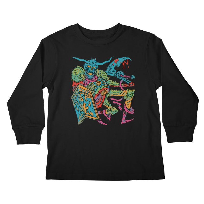 Vorst the Undead Paladin  Kids Longsleeve T-Shirt by Things You Might Find In A Dungeon