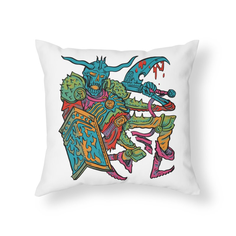 Vorst the Undead Paladin  Home Throw Pillow by Things You Might Find In A Dungeon